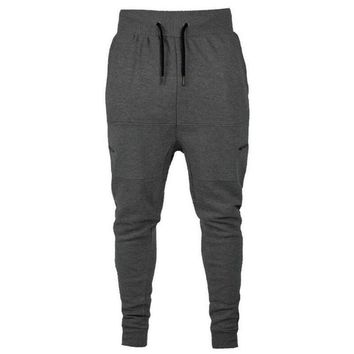 2018 Autumn Men's Sweatpants Elastic Waist Casual Joggers Pants Harem Pants long trousers Track pants zipper pocket