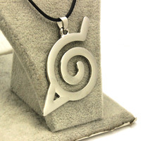 Naruto Hidden Leaf village symbol necklace