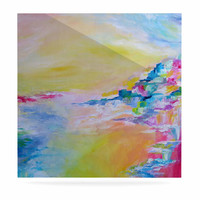 "Ebi Emporium ""Something About the Sea"" Yellow Multicolor Luxe Square Panel"