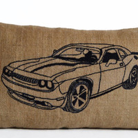 Car Pillow Cushion Cover -Personalized Custom Burlap Decorative Pillow -Gift For Him, Father, Grandfather, Valentines, Anniversary, Birthday