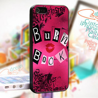 Mean Girls Burn Book - JDC055 - Cover Black Border - iPhone 4 / 4S - iPhone 5 Case - Black / White / Clear