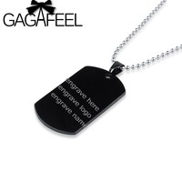 Custom Logo Pendant Necklace Stainless Steel Engrave Your Name On Necklace, ID Tag Necklace ,Gift For Boyfriend