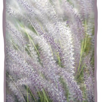 Grass Is More - Nature In Purple And Green Queen Duvet Cover for Sale by Ben and Raisa Gertsberg