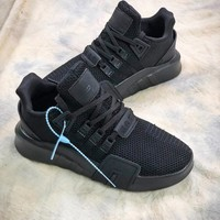 Adidas Eqt Basketball Adv All Balck Sport Running Shoes - Best Online Sale