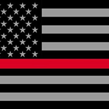 RedLine Flags Subdued Thin 3M Vinyl Reflective Decal, Black, Gray & Red American Flag Sticker Honoring the Courage of Our Firefighters, EMT & Paramedics
