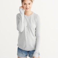 Womens Cashmere Silk Crew Sweater | Womens Tops | Abercrombie.com