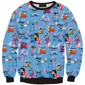 Print Stylish Cute 3D Print Pullover Lovely Korean Cartoons 3D Fashion Hoodies = 4817363780
