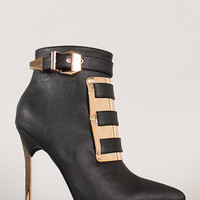 Privileged Swalka Leatherette Pointy Toe Stiletto Bootie