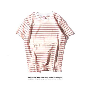 Mens Supreme Striped T-shirt