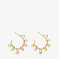 THE ALKEMISTRY Zoë Chicco 14ct yellow-gold and diamond prong hoop earrings
