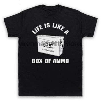 Life Is Like A Box Of Ammo T-Shirts - Men's Crew Neck Top Tees