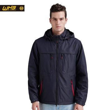WHS hot sale Autumn Men sport cotton Jacket outdoor camping coat Male fall hiking windproof Clothes spring Outdoor