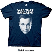 The Big Bang Theory Was That Sarcasm Navy Mens T-shirt - The Big Bang Theory - Free Shipping on orders over $60 | TV Store Online