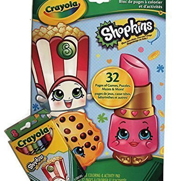 Crayola Shopkins Bundle Coloring & Activity Pad and Shopkins Crayola Crayon Pack