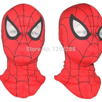 Free shipping,Cosplay clothing children and adult Spiderman mask Spider-Man Gloves Cosplay Halloween Party Supplies