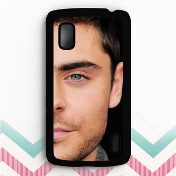 zac efron face Nexus 4 Case