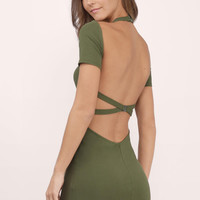 Flaunt It Backless Bodycon Dress