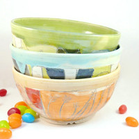 Ceramic Handmade Soup bowl, cereal bowl or  salad bowl - READY TO SHIP - holds 3 cups