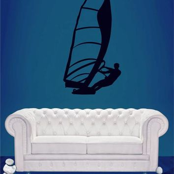 ik2595 Wall Decal Sticker windsurf sail sports shop stained living room