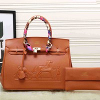 Hermes women shopping shoulder bag female inclined shoulder bag brown Two piece G-XS-PJ-BB