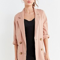 UO Double-Breasted Striped Blazer | Urban Outfitters