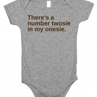 Twosie-Unisex Heather Grey Baby Onesuit