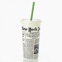 Insulated Tumbler in Newsprint by Kate Spade