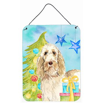 Christmas Tree Spinone Italiano Wall or Door Hanging Prints CK1860DS1216