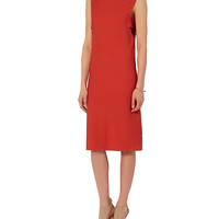 Narciso Rodriguez Banded Jersey Dress: Red at INTERMIX | Shop Now | Shop IntermixOnline.com