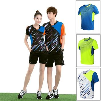 Women &Men's T Shirts Shorts Breathable Volleyball Jerseys Badminton Uniforms Table Tennis Clothing Specific Team Game
