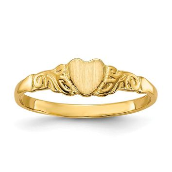 14K Yellow Gold Childs Heart Ring