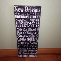 Personalized Wooden Distressed City Sign New Orleans