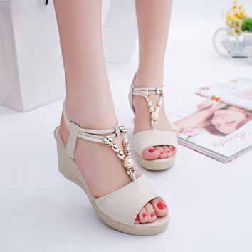 High Heels Sandals Women Summer Shoes Fashion Women Sandals Wedge Heels Plataforma Open Toe Women Shoes