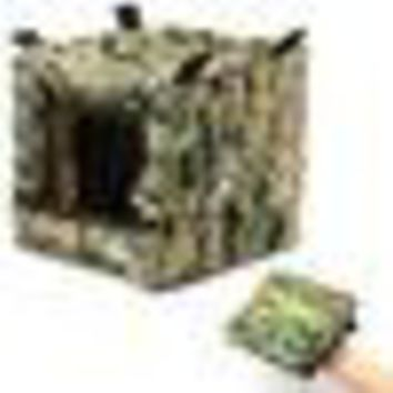 New Arrival Camouflage Portable Foldable Slingshot Target Box Case Recycle Ammo Hunting Archery Catapult for Outdoor Activities