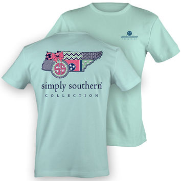 Simply Southern Tennessee Chevron Preppy State Pattern Girlie Bright T Shirt
