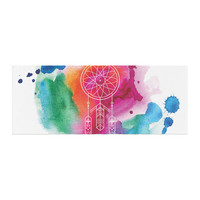 "KESS Original ""Dream In Color"" Rainbow Watercolor Bed Runner"