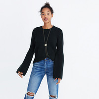 Bell-Sleeve Pullover Sweater