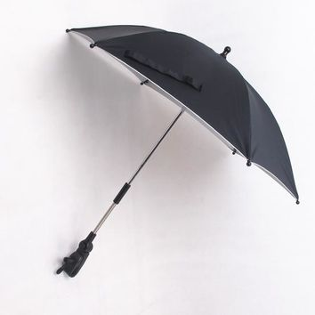 General use umbrella for baby strollers baby stroller accessory black umbrella with adapter