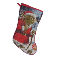 Kurt Adler Star Wars Classic Yoda Tapestry Stocking, 19-Inch