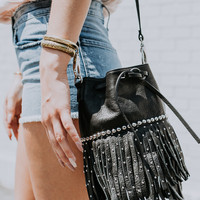 B-LOW THE BELT | Savannah Crossbody - Black/Silver