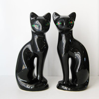 Vintage Cat Statues, Art Deco