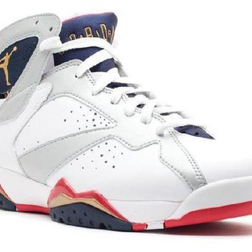 PEAPN Ready Stock Nike Air Jordan 7 Retro Olympic 2012 Release Basketball Sport Shoes