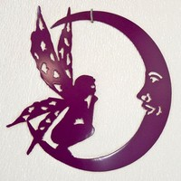 Fairy Moon Wall Art - Metal Art - Home Decor - Make GREAT gifts!