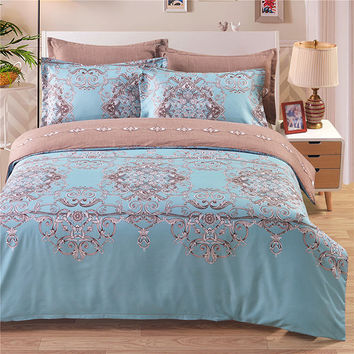 3pcs Elegant Printing Bedding Sets Bedding Pillowcases Quilt Cover Set Twin Queen King