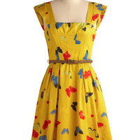 Enchanting Entomologist Dress | Mod Retro Vintage Printed Dresses | ModCloth.com