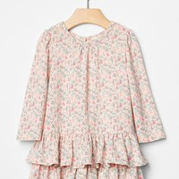 Gap Floral Tier Drop Waist Dress