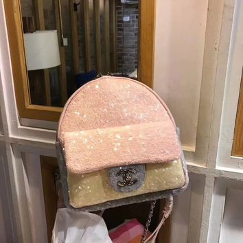 """CHANEL"" New Sequin Backpack"