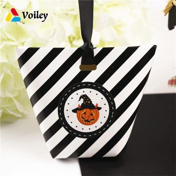 Halloween Decoration Pumpkin Witch Ghost Candy Boxs Birthday Party Kids Favors Gifts Organizer Paper Box Baby Shower Supplies,7