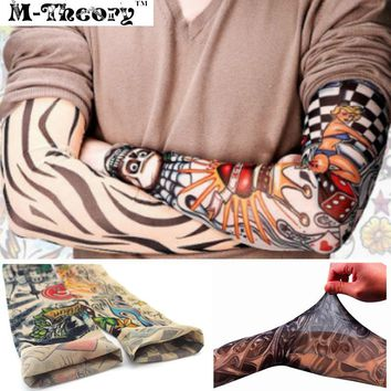3D Arm Tattoos Sleeve Elastic Stockings Leggings Temporary Body Makeup 3d Henna Tatuagem Tatto Flash Tatoos Body Arts
