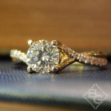 "Ben Garelick ""Belle"" Twist Diamond Engagement Ring"